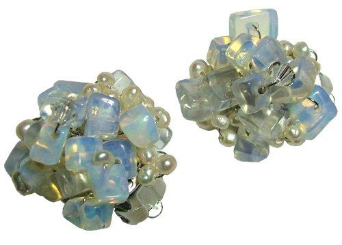 Moonstone Clip-on  Earrings