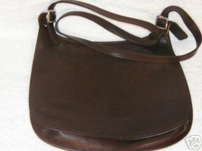 AUTHENTIC COACH BROWN MESSENGER LEATHER BAG OVERSIZE WOMEN'S PURSE HANDBAG SEXY
