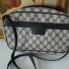 7.	AUTHENTIC GUCCI BIG G women&#39;s leather purse accessory black white signature