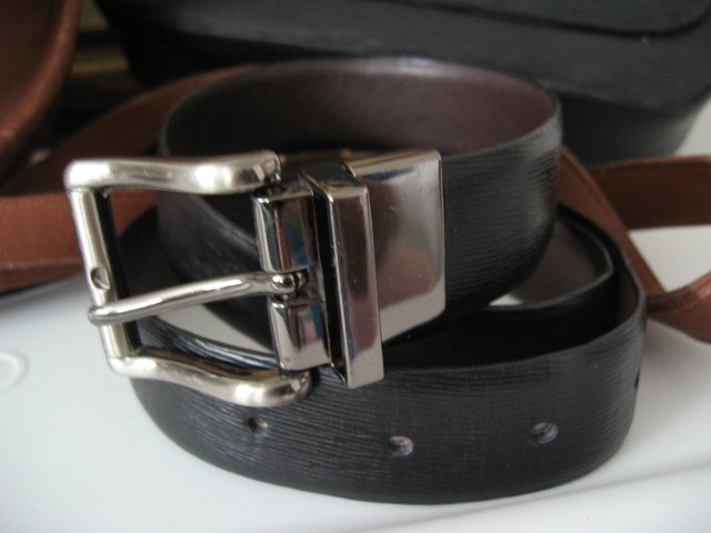 16.	TIGER BELT SZ M - WOMEN'S LEATHER BELT U2 TIGER TEXTURE