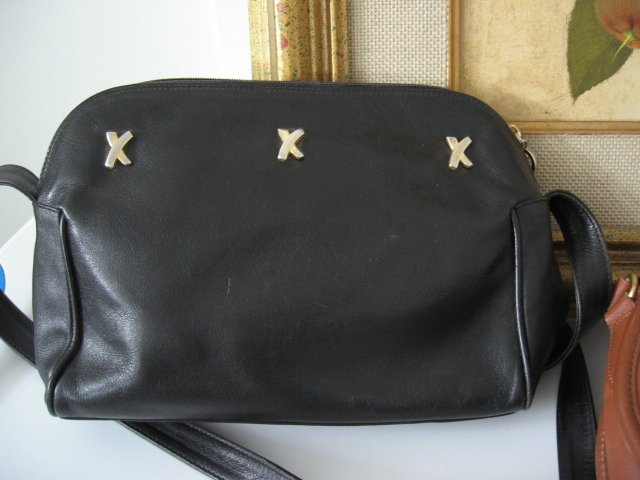 18.	AUTHENTIC PALOMA PICASSO women's purse bag handbag leather black made in italy