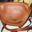 19.	AUTHENTIC COACH BROWN ROUND WOMEN'S BAG LEATHER HANDBAG PURSE