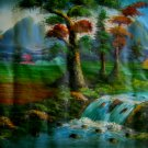 WATERFALL LANDSCAPE PAINTING FULL WALL SIZE poster art nature yoga