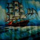SAILBOAT OCEAN TIDE LANDSCAPE PAINTING poster art