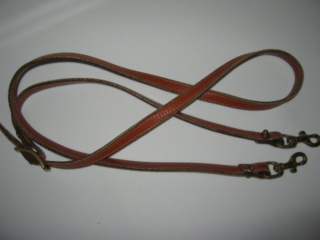 #33 brown COACH DOONEY&BOURKE REPLACEMENT LEATHER STRAP WITH SNAP HOOKS purse bag women's accessory
