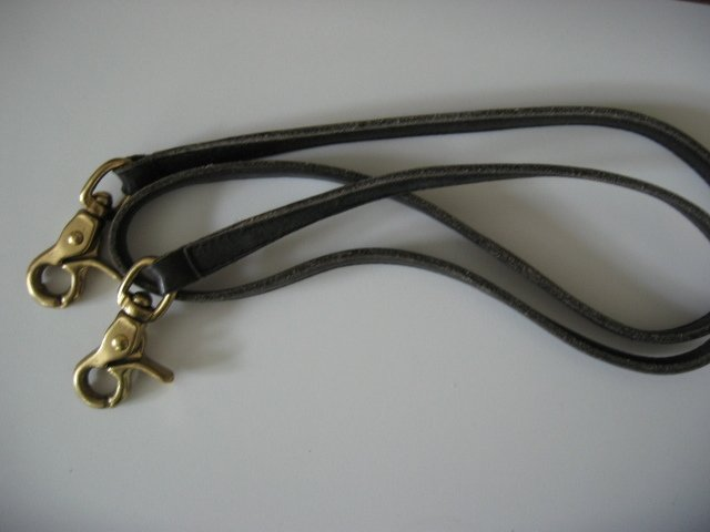 #022 black COACH DOONEY&BOURKE REPLACEMENT LEATHER STRAP WITH SNAP HOOKS purse bag women's accessory