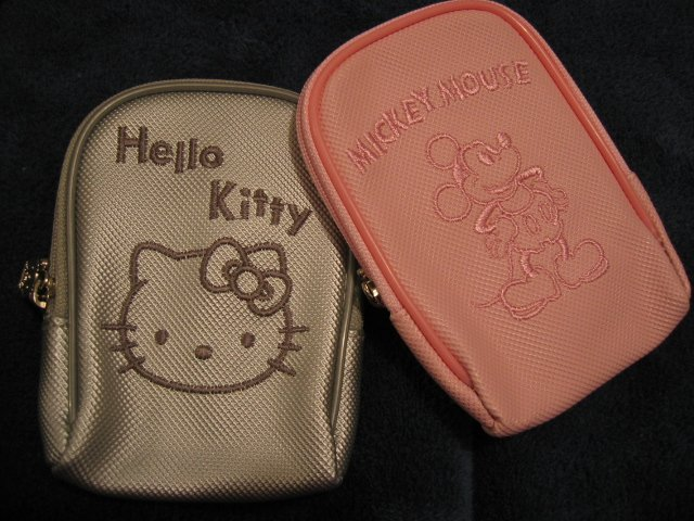 HELLO KITTY OR MICKEY MOUSE I-POD ipod DISNEY case travel CELL PHONE DIGITAL CAMERA BAG WALLET