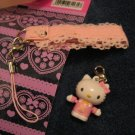 HELLO KITTY PHONE STRAP NEW accessory ipod canon home collectible knitting crochet stitch markers