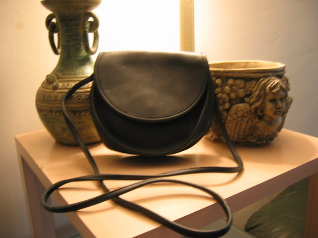 AUTHENTIC ROUND BLACK COACH LEATHER WOMEN'S BAG PURSE HANDBAG #14