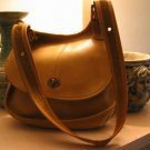 AUTHENTIC saddle TAN MESSENGER FULL BODY COACH - RARE - WOMEN'S leather BAG HANDBAG PURSE #18