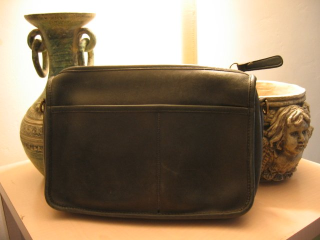 AUTHENTIC BLACK POCHETTE COACH MAKEUP BAG WOMEN'S HANDBAG BAG PURSE #6