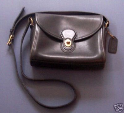 AUTHENTIC COACH BLACK COURT BAG PURSE WOMEN'S HANDBAG GENUINE LEATHER