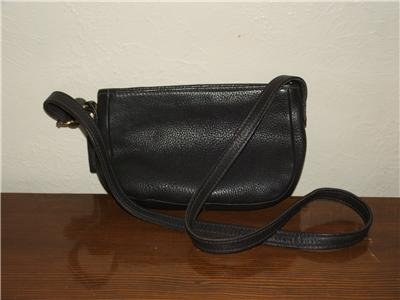 AUTHENTIC COACH BLACK NUBUCK PEBBLE LEATHER SMALL CUTE BAG WOMEN'S PURSE GENUINE LEATHER