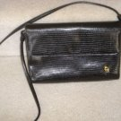 AUTHENTIC ETIENNE AIGNER GENUINE LEATHER BLACK CROC MOC WOMEN'S PURSE BAG HANDBAG EVENING DRESS
