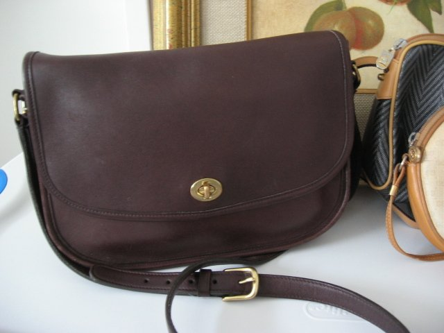 AUTHENTIC BROWN COACH city bag LEGACY TURNLOCK WOMEN'S PURSE BAG HANDBAG GENUINE LEATHER