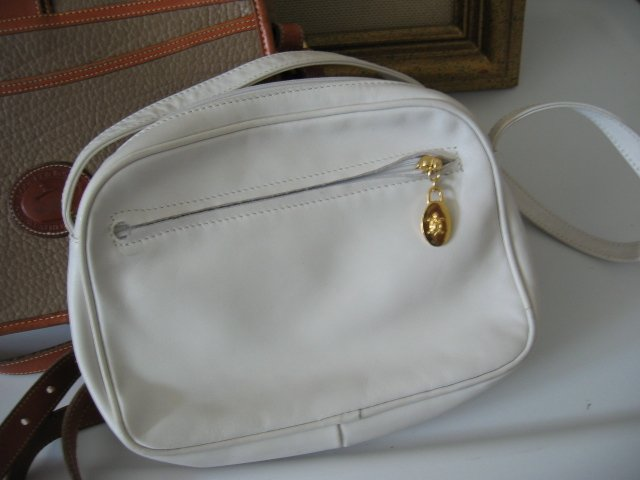 AUTHENTIC FRANCESCO BIASIA WHITE LEATHER WOMEN'S BAG HANDBAG PURSE