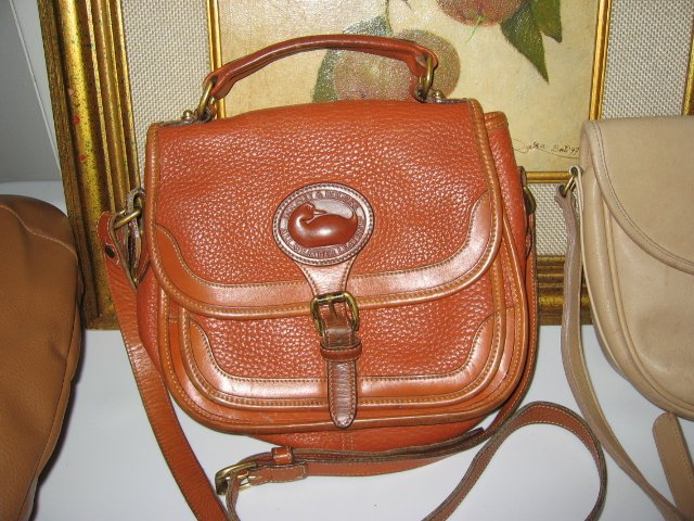 AUTHENTIC DOONEY&BOURKE dooney & bourke BROWN LEATHER WOMEN'S BAG HANDBAG PURSE doctor's bag