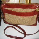 AUTHENTIC BRAHMIN PURSE TWEED brown LEATHER WOMEN'S BAG HANDBAG accessory clothes