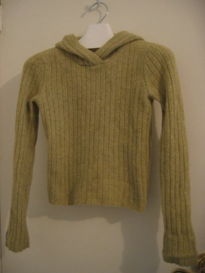 RIBBED sweater clothes like new abercrombie WOOL green xl girls