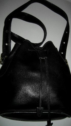 AUTHENTIC BLACK DRAWSTRING BUCKET tote COACH - WOMEN'S HANDBAG BAG PURSE #2