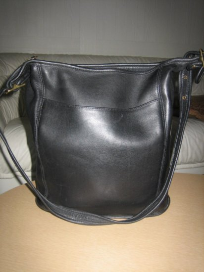 AUTHENTIC BLACK COACH LEGACY women's purse handbag leather BUCKET