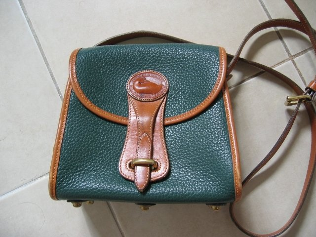 AUTHENTIC DOONEY & BOURKE dooney&bourke GREEN women's bag handbag purse - leather GENUINE