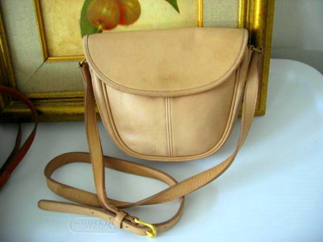 AUTHENTIC CREME TAN light brown COACH WOMEN'S PURSE BAG HANDBAG LEATHER