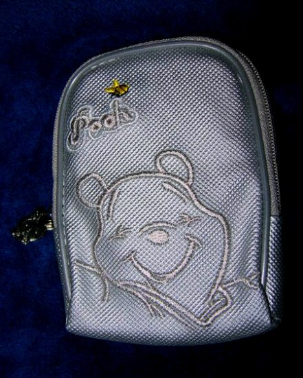 SILVER WINNIE THE POOH I-POD IPOD DISNEY case travel CELL PHONE DIGITAL CAMERA BAG WALLET