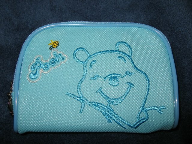BLUE WINNIE THE POOH I-POD ipod DISNEY case travel CELL PHONE DIGITAL CAMERA BAG WALLET