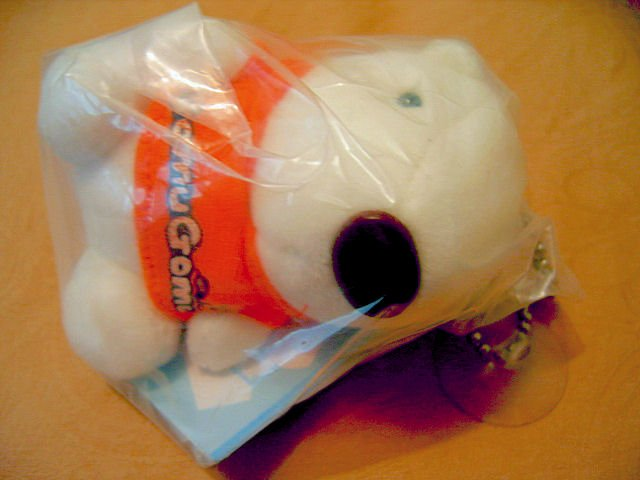 GOMU GOMU WHITE POLARBEAR TEDDY BEAR CUB STUFF ANIMAL TOY CAR ACCESSORY