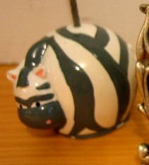 SOLD - ZEBRA PAPER HOLDER OFFICE TOOL SUPPLY clip ceramic decorative collectible animal figurine