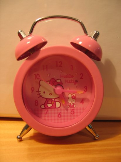 MINI HELLO KITTY CLOCK decorative collectible home decor kids room toy hobby accessory ALARM CLOCK
