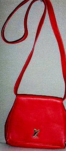 AUTHENTIC RED PALOMA PICASSO ITALY WOMEN'S LEATHER BAG HANDBAG PURSE - RARE VINTAGE