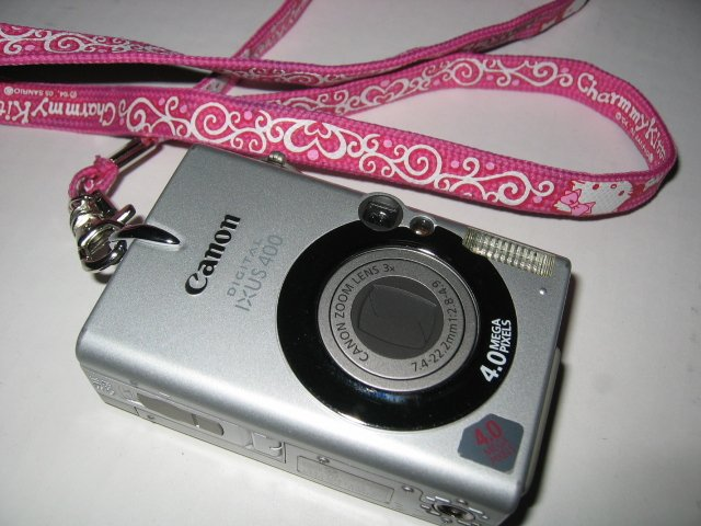 GOTHIC TATTOO HELLO KITTY CAMERA PHONE STRAP CANON CELL PHONE