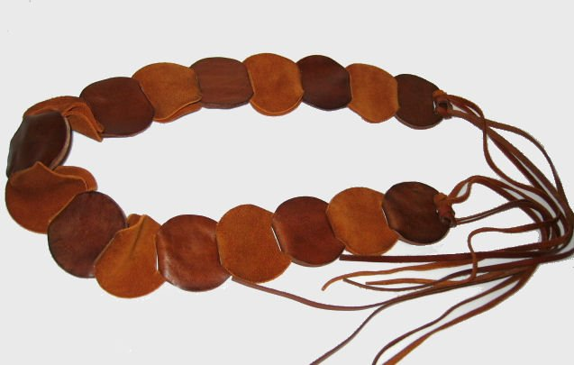 GAP LEATHER SUEDE BELT WRAP-AROUND SIZE SMALL WOMEN'S ACCESSORY brown