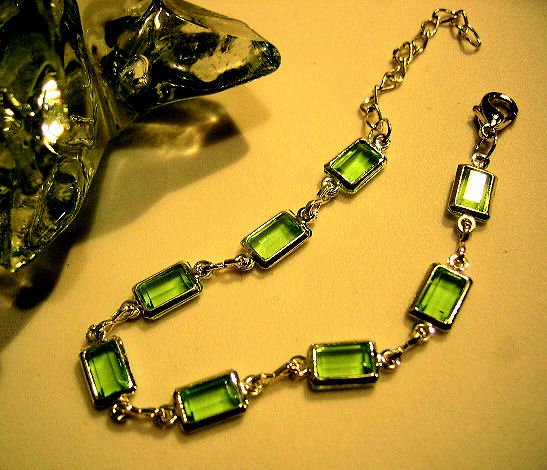 emerald green rectangle prism JEWELRY CHARM BRACELET beads PARTY FAVOR watches WOMEN'S ACCESSORY