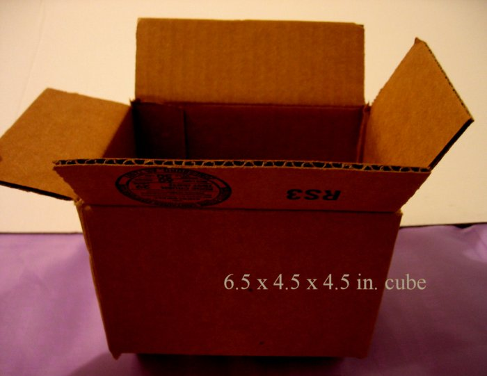 5 SMALL NEW STORAGE SHIPPING GIFT BOX BOXES home 6.5 x 4.5 x 4.5 in. cube