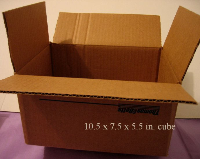 5 MEDIUM NEW STORAGE SHIPPING GIFT BOX BOXES home 10.5 x 7.5 x 5.5 in. cube
