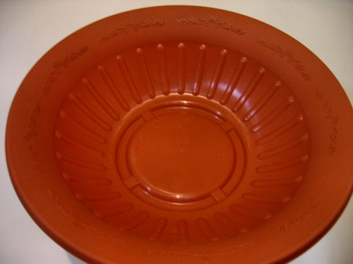 brand new LARGE ROUND plastic dish red brick color PLANTER POT VENETIAN STYLE GARDEN HANGING