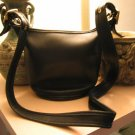 AUTHENTIC BLACK leather COACH BUCKET WOMEN'S HANDBAG BAG PURSE #8