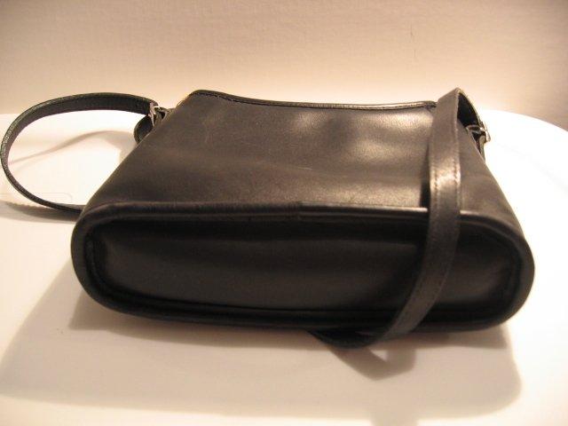 AUTHENTIC BLACK COACH SIDE POCKET CUTE WOMEN'S BAG HANDBAG PURSE GENUINE LEATHER