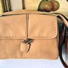 INDIAN LK SUEDE LEATHER WOMEN'S TAN BROWN PURSE HANDBAG BAG