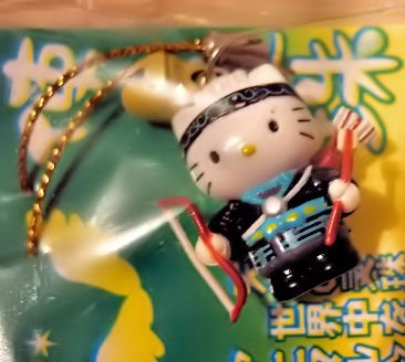 indian HELLO KITTY CHARM PHONE ACCESSORY IPOD NECKLACE COLLECTIBLE knitting crochet stitch markers