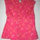 OLD NAVY PINK sz M butterfly KIMONO TOP SHIRT T-SHIRT TANK WOMEN'S CLOTHES
