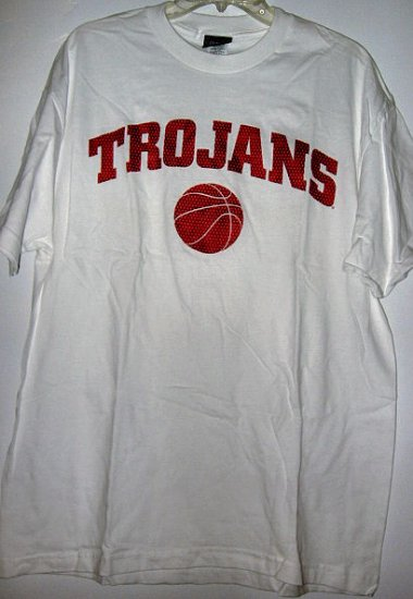CHAMPS OFFICAL TEAM SPORTS SHIRT USC TROJAN BASKETBALL sz L MEN'S WOMEN'S CLOTHES