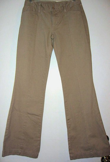 NEW khaki KHAKIS pants bootcut COTTON DARK BROWN SZ 4 JUNIORS lk gap old navy girl's clothes