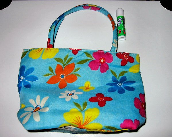 SOLD - bright BLUE CANVAS FLORAL TOTE WOMEN'S ACCESSORY BAG PURSE HANDBAG SO CUTE makeup bag