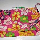 pink CANVAS FLORAL TOTE WOMEN'S ACCESSORY BAG PURSE HANDBAG SO CUTE makeup bag