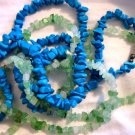 rock stone jewelry BLUE TURQUOISE necklace beads women's clothes accessory
