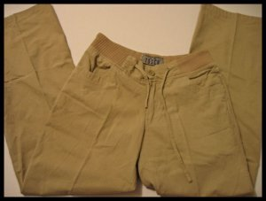 tosca khaki pants khakis drawstring women's clothes slacks juniors sz s